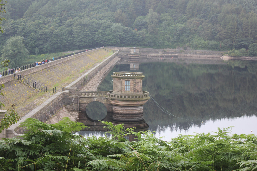 Ladybower Reservoir in Derbyshire England