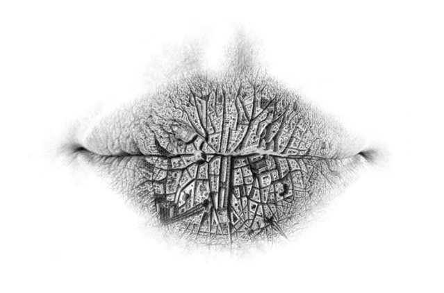 Surreal Drawings Of Lips By Christo Dagorov