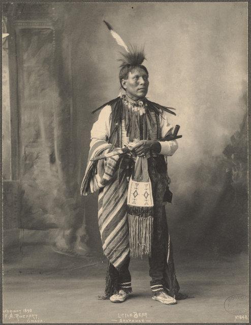 Little Bear, Arapahoe, 1899. (Photo by Frank A. Rinehart)
