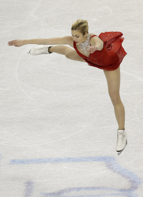 Ashley Wagner performs during the women's free skate program at the U.S. Figure Skating Championships in Greensboro, N.C., Saturday, January 24, 2015. (Photo by Chuck Burton/AP Photo)