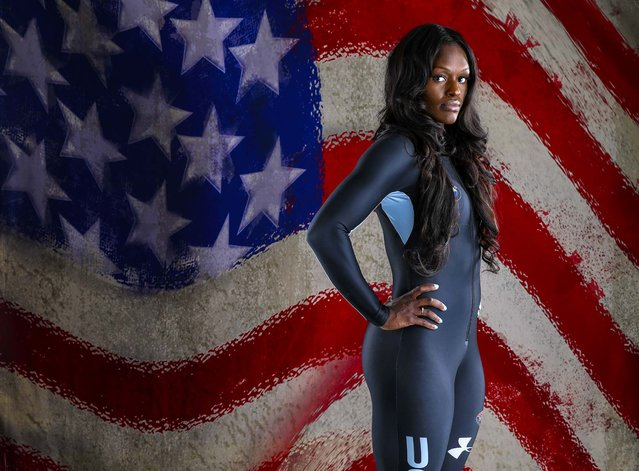 Team USA bobsled hopeful Aja Evans  at the Team USA Media Summit in preparation for the 2014 Sochi Olympic Games at the Grand Summit Hotel, on September 30, 2013. (Photo by Kevin Jairaj/USA Today Sports)