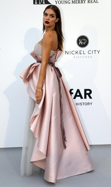 Josephine Skriver poses for photographers upon arrival at the amfAR, Cinema Against AIDS, benefit at the Hotel du Cap-Eden-Roc, during the 72nd international Cannes film festival, in Cap d'Antibes, southern France, Thursday, May 23, 2019. (Photo by Eric Gaillard/Reuters)