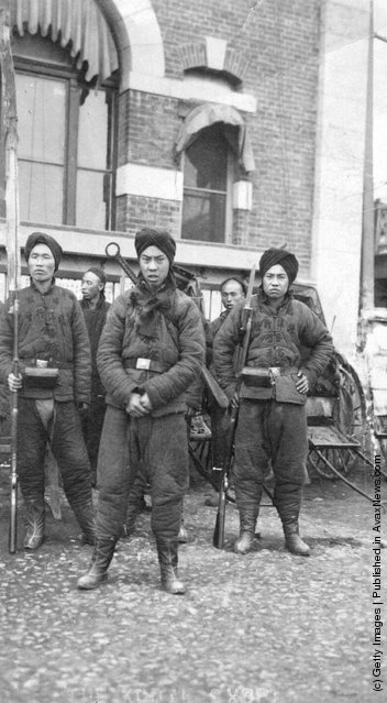 1940: A group of Chinese soldiers