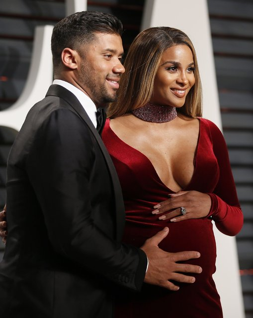 Seattle Seahawks quarterback Russell Wilson and singer Ciara arrive for the Vanity Fair Oscar Party hosted by Graydon Carter at the Wallis Annenberg Center for the Performing Arts on February 26, 2017 in Beverly Hills, California. (Photo by Danny Moloshok/Reuters)