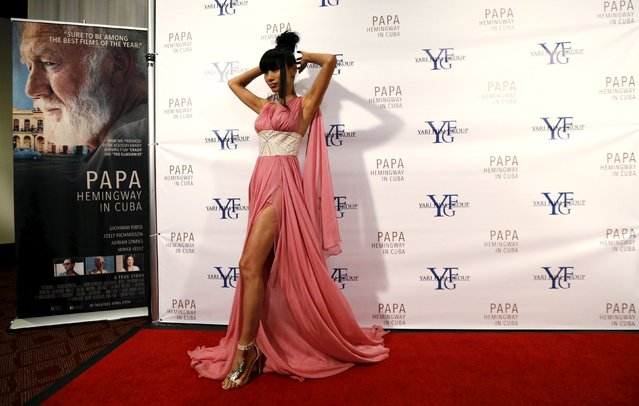 """Actress Bai Ling poses at the premiere of """"Papa Hemingway in Cuba"""" at ArcLight in Los Angeles, U.S., April 25, 2016. (Photo by Mario Anzuoni/Reuters)"""