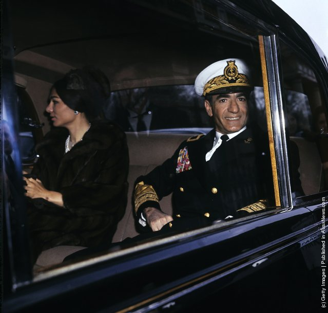 Mohammad Reza Shah Pahlavi (1919-1980), Shah of Iran, and Empress Farah Pahlavi of Iran, 1965
