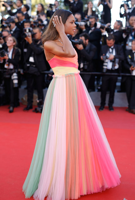 """Actress Naomie Harris attends the """"Ismael's Ghosts (Les Fantomes d'Ismael)"""" screening and Opening Gala during the 70th annual Cannes Film Festival at Palais des Festivals on May 17, 2017 in Cannes, France. (Photo by Andreas Rentz/Getty Images)"""