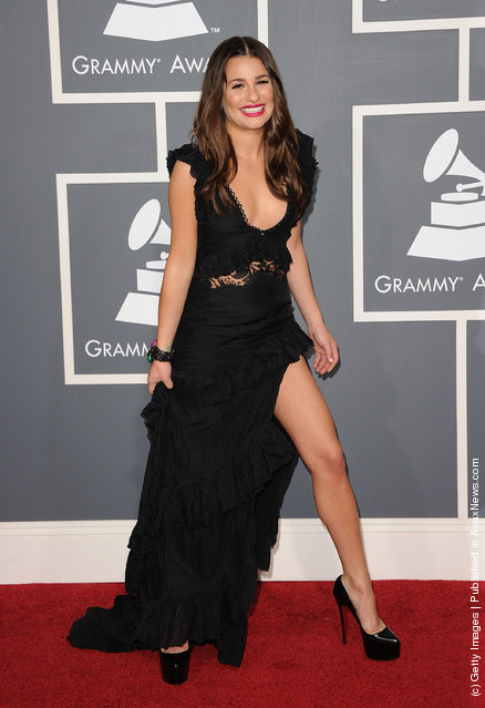 Singer Lea Michele arrives at The 53rd Annual GRAMMY Awards held at Staples Center