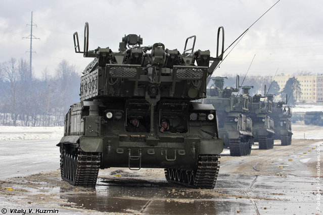 9A317 self-propelled launching vehicle for Buk-M2 air defence system
