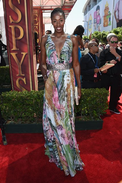 WNBA player Lisa Leslie attends The 2014 ESPYS at Nokia Theatre L.A. Live on July 16, 2014 in Los Angeles, California. (Photo by Michael Buckner/Getty Images For ESPYS)