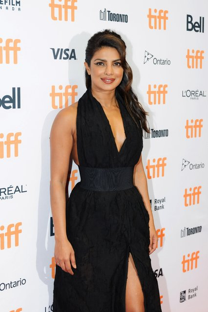 Actor Priyanka Chopra greets guest at the TIFF Bell Lightbox on September 6, 2017 in Toronto, Canada. Stars and dignitaries were on hand to walk the red carpet into the event. Actor, producer and activist Priyanka Chopra was the guest of honour. (Photo by Stacey Newman/Rex Features/Shutterstock)