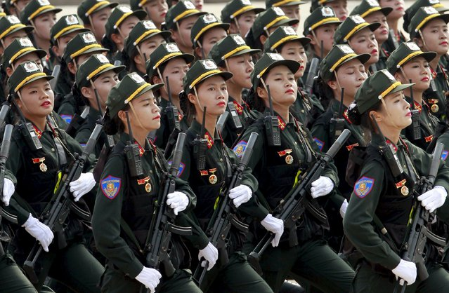 Members of a female special police force march during a parade marking their 70th National Day at Ba Dinh square in Hanoi, Vietnam September 2, 2015. (Photo by Reuters/Kham)