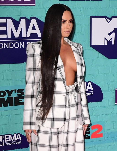 Singer Demi Lovato arrives at the 2017 MTV Europe Music Awards at Wembley Arena in London, Britain, November 12, 2017. (Photo by PA Wire)