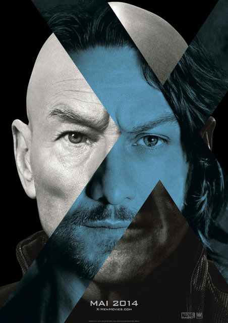 "A teaser poster for ""X-Men: Days of Future Past"", showing Patrick Stewart and James McAvoy as iterations of the character Charles Xavier/Professor X. Design by BLT Communications, LLC, Hollywood. (Photo by Key Art Awards 2014)"