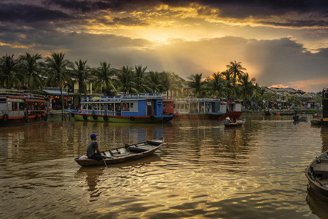 #6. Vietnam, Total GDP: USD 202.6 billion (2016). Contribution of Travel and Tourism to GDP: 9.1% . Here: A boat in the Thu Bon River, Hoi An, Vietnam. (Photo by Domingo Leiva/Getty Images)