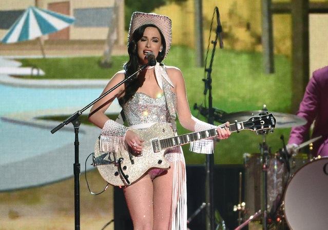 Kacey Musgraves performs at the 49th annual CMA Awards at the Bridgestone Arena on Wednesday, November 4, 2015, in Nashville, Tenn. (Photo by Chris Pizzello/Invision/AP Photo)