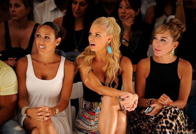 TV personalities Melissa Gorga, Alexia Echevarria and Marysol Patton attend the L*Space By Monica Wise show. (Photo by Larry Marano/Getty Images for L*Space By Monica Wise)