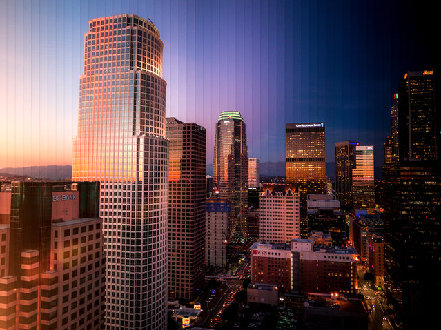 Los Angeles: 55 photographs, 1 hour 10 minutes. (Photo by Daniel Marker-Moors/Caters News)