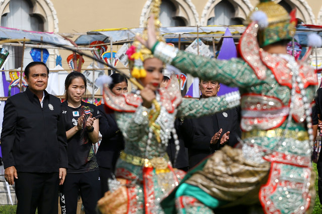 Thailand's Prime Minister Prayuth Chano-cha (L) attends the Children's Day celebration at Government House in Bangkok, Thailand, January 14, 2017. (Photo by Athit Perawongmetha/Reuters)