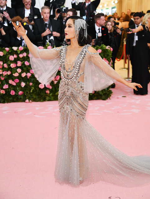 Constance Wu  attends The 2019 Met Gala Celebrating Camp: Notes on Fashion at Metropolitan Museum of Art on May 06, 2019 in New York City. (Photo by Dimitrios Kambouris/Getty Images for The Met Museum/Vogue)