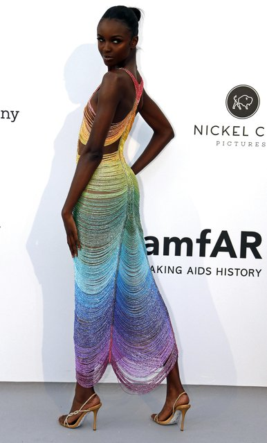 Leomie Anderson poses for photographers upon arrival at the amfAR, Cinema Against AIDS, benefit at the Hotel du Cap-Eden-Roc, during the 72nd international Cannes film festival, in Cap d'Antibes, southern France, Thursday, May 23, 2019. (Photo by Eric Gaillard/Reuters)