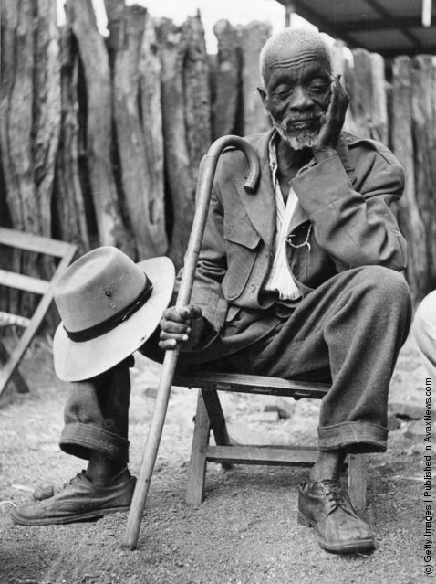 Tshekedi Khama, uncle of Seretse Khama, (in Bechuanaland), Chief of the Bamangwato who caused a scandal by marrying Englishwoman Ruth Williams. Botswana, 1950