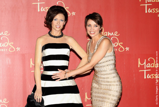 Australian TV personality and singer, Dannii Minogue at the reveal of her wax figure to feature at Madam Tussauds Sydney