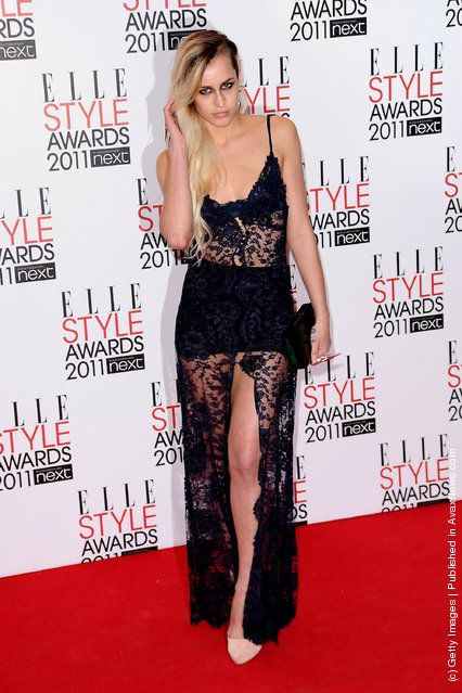 Model Alice Delall attends the 2011 ELLE Style Awards at the Grand Connaught Rooms