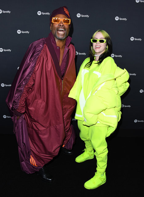 Billy Porter and Billie Eilish arrives at the Spotify Best New Artist 2020 Party at The Lot Studios on January 23, 2020 in Los Angeles, California. (Photo by Steve Granitz/WireImage)