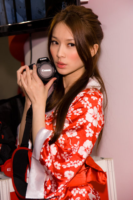 Asian Beauty: Hot Promotional Models in Taipei, Taiwan. Taipei International Digital Photo Equipment Exhibition 2011