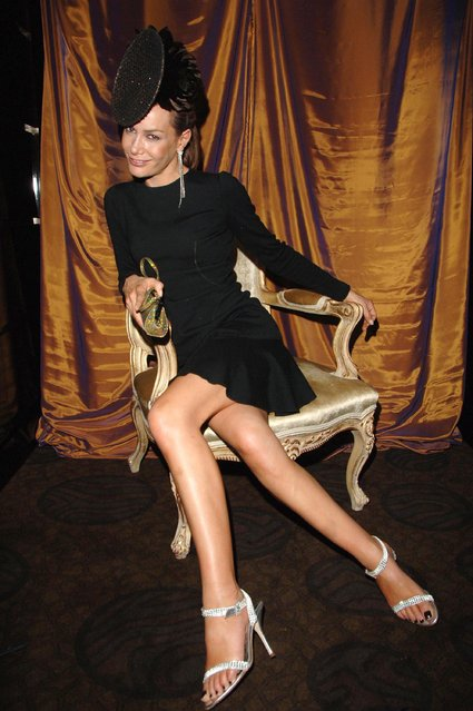 UK socialite and reality star Tara Palmer Tomkinson during Gina Shoe's 50th Birthday Party at The Bar at The Dorchester at Dorchester Hotel in London, Great Britain on September 19, 2006. (Photo by Jon Furniss/WireImage)