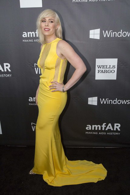 Singer Natasha Bedingfield poses at the amfAR's Fifth Annual Inspiration Gala in Los Angeles, California October 29, 2014. (Photo by Mario Anzuoni/Reuters)