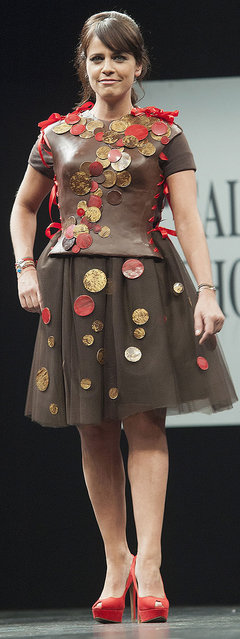 Singer Laure Cohen aka Koxie walks the runway during the Chocolate fashion show as a part of the Salon Du Chocolat 2015 - Chocolate Fair at Parc des Expositions Porte de Versailles on October 27, 2015 in Paris, France. (Photo by Kay-Paris Fernandes/WireImage)
