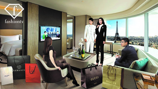 In this image released on Friday, March 21, 2018, it is announced that Fashion TV has been appointed to distribute 25 Chinese TV channels to 230 million Chinese tourists in hotels around the world. FashionTV cooperates with APT Satellite Company Limited to distribute the Great Wall TV Platform, a TV channel bouquet including some highly-rated TV channels, namely CCTV-Entertainment, Hunan TV, Zhejiang TV, Oriental TV, to hotels around the world, using a combination of OTT and satellite distribution technology to maximize the coverage. (Photo by FashionTV via AP Images Photo)