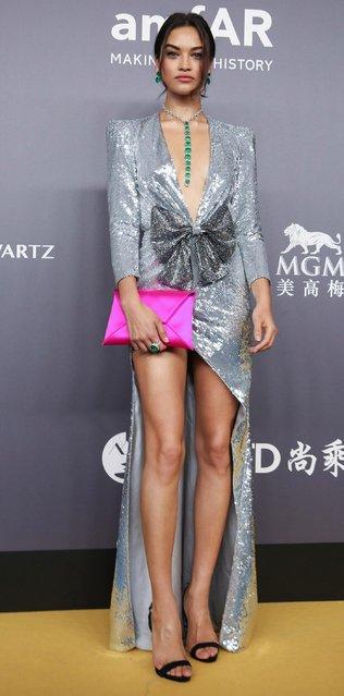 Model Shanina Shaik attends the amfAR Hong Kong Gala 2018 at Shaw Studios on March 26, 2018 in Hong Kong, Hong Kong. (Photo by Billy H.C. Kwok/Getty Images for amfAR)