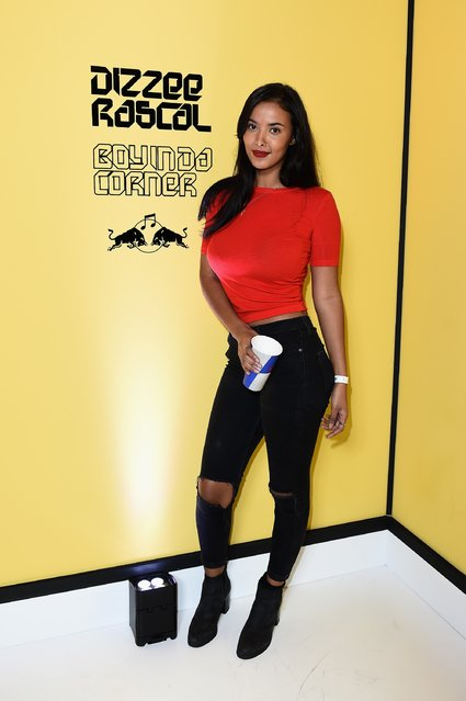 Maya Jama attends Dizzee Rascal: Boy In Da Corner Live at Copper Box Arena as part of the Red Bull Music Academy UK Tour on October 22, 2016 in London, England. (Photo by Jeff Spicer/Getty Images for Getty Images)