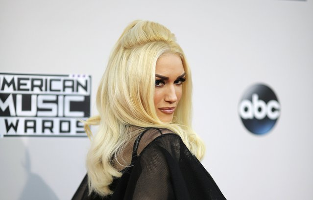 Singer Gwen Stefani arrives at the 2015 American Music Awards in Los Angeles, California November 22, 2015. (Photo by David McNew/Reuters)