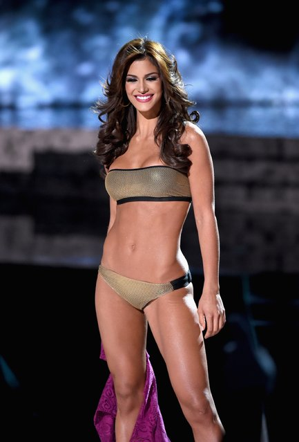 Miss Venezuela 2015, Mariana Jimenez, competes in the swimsuit competition during the 2015 Miss Universe Pageant at The Axis at Planet Hollywood Resort & Casino on December 20, 2015 in Las Vegas, Nevada. (Photo by Ethan Miller/Getty Images)