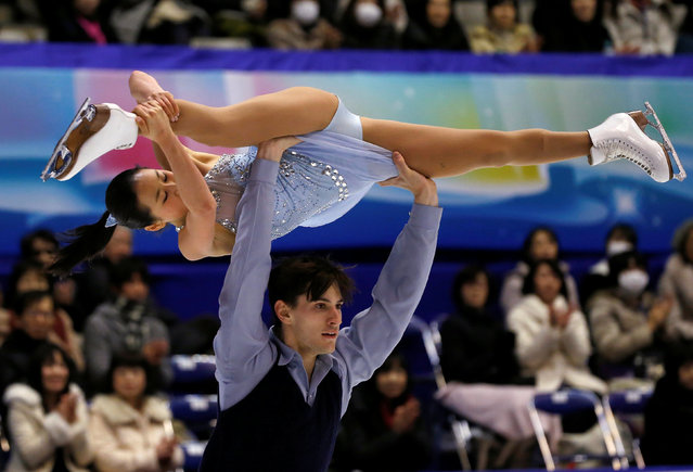Figure Skating, ISU Grand Prix of Figure Skating NHK Trophy 2016/2017, Pairs Free Program, Sapporo, Japan on November 26, 2016. Sumire Suto and Francis Boudreau Audet of Japan compete. (Photo by Issei Kato/Reuters)