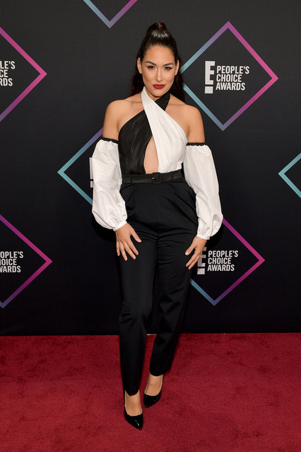 Brie Bella attends the People's Choice Awards 2018 at Barker Hangar on November 11, 2018 in Santa Monica, California. (Photo by Matt Winkelmeyer/Getty Images)