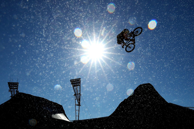 Alex Nikulin of Russia competes in the BMX Dirt qualifying during the X Games Sydney 2018 at Sydney Olympic Park on October 19, 2018 in Sydney, Australia. (Photo by Cameron Spencer/Getty Images)