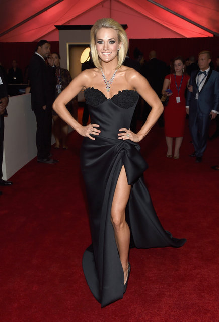 Singer Carrie Underwood attends The 58th GRAMMY Awards at Staples Center on February 15, 2016 in Los Angeles, California. (Photo by Larry Busacca/Getty Images for NARAS)