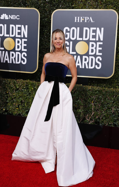 Kaley Cuoco arrives at the 76th annual Golden Globe Awards at the Beverly Hilton Hotel on Sunday, January 6, 2019, in Beverly Hills, Calif. (Photo by Mike Blake/Reuters)