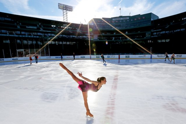 Cast members of the Frozen Fenway 2017 Winter Party On Ice perform at Fenway Park, January 16, 2017, in Boston, Massachusetts. (Photo by Maddie Meyer/Getty Images)