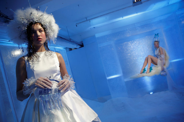 Models present creations at the Sophia Webster presentation during London Fashion Week in London, Britain February 20, 2017. (Photo by Neil Hall/Reuters)