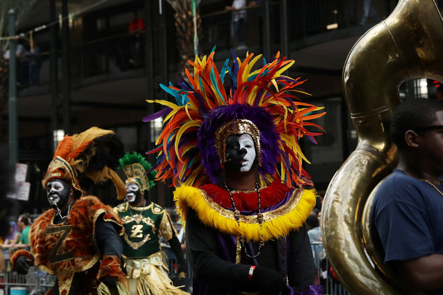 People march during the Krewe of Zulu parade during Mardi Gras in New Orleans, Louisiana U.S., February 28, 2017. (Photo by Shannon Stapleton/Reuters)