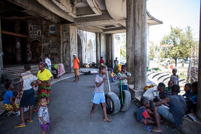 People who stay at the Grande Hotel do not pay rent, but the community has set up its own rules and is not allowing new residents as they say the building is full. (Photo by Fellipe Abreu/The Guardian)