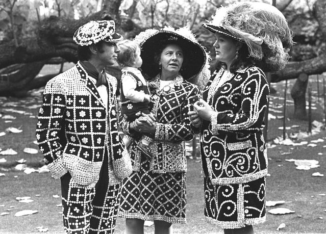 Pearly Kings and Queens in London's East End, circa 1970. (Photo by Steve Lewis/Getty Images)