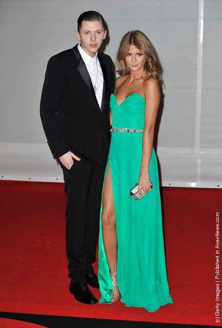 Professor Green and Millie Mackintosh attend The BRIT Awards 2012 at the O2 Arena