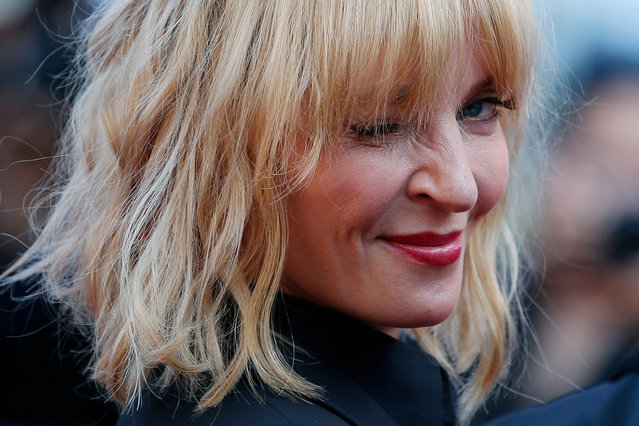 """Uma Thurman attends the """"Based On A True Story"""" screening during the 70th annual Cannes Film Festival at Palais des Festivals on May 27, 2017 in Cannes, France. (Photo by Stephane Mahe/Reuters)"""